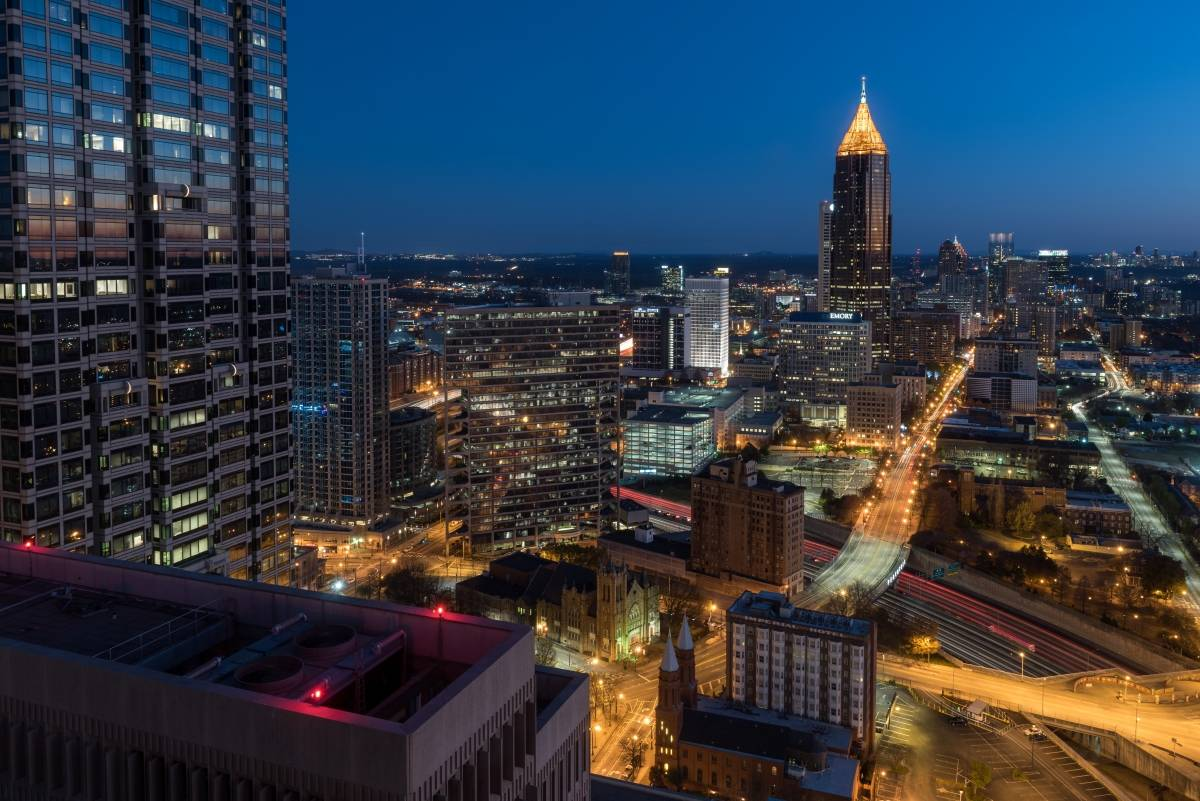 Atlanta as seen from above, photo